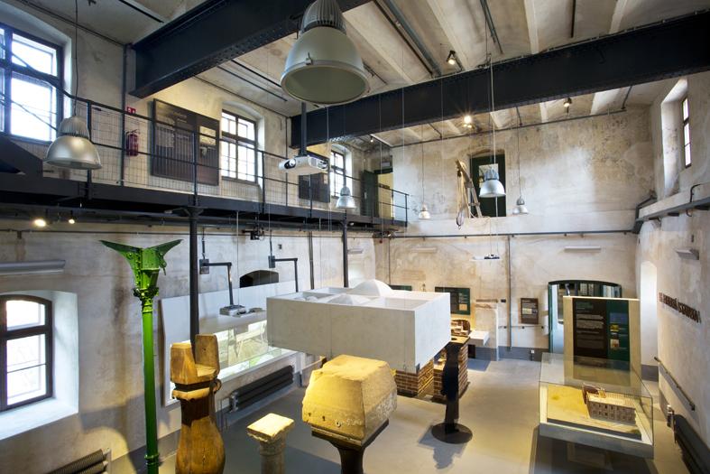 Původní stav prostor aexpozice, Centrum stavitelského dědictví, Plasy