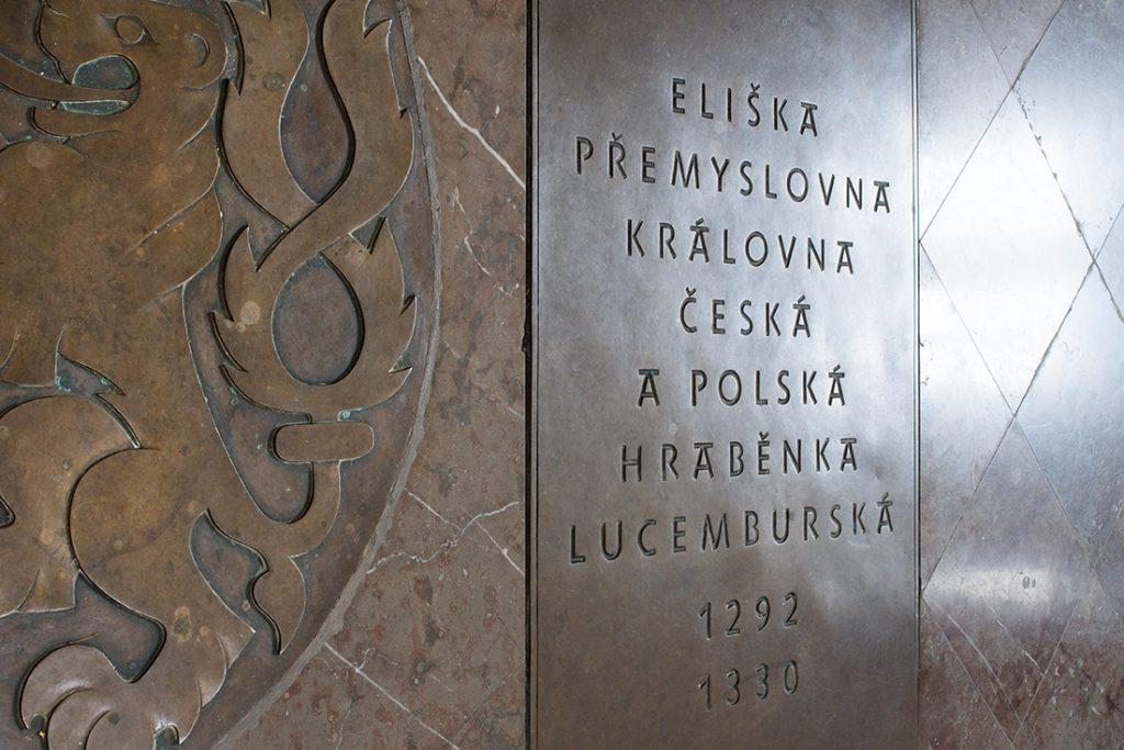 Zbraslav, hrobka přemyslovských králů, typografické řešení Jan Solpera