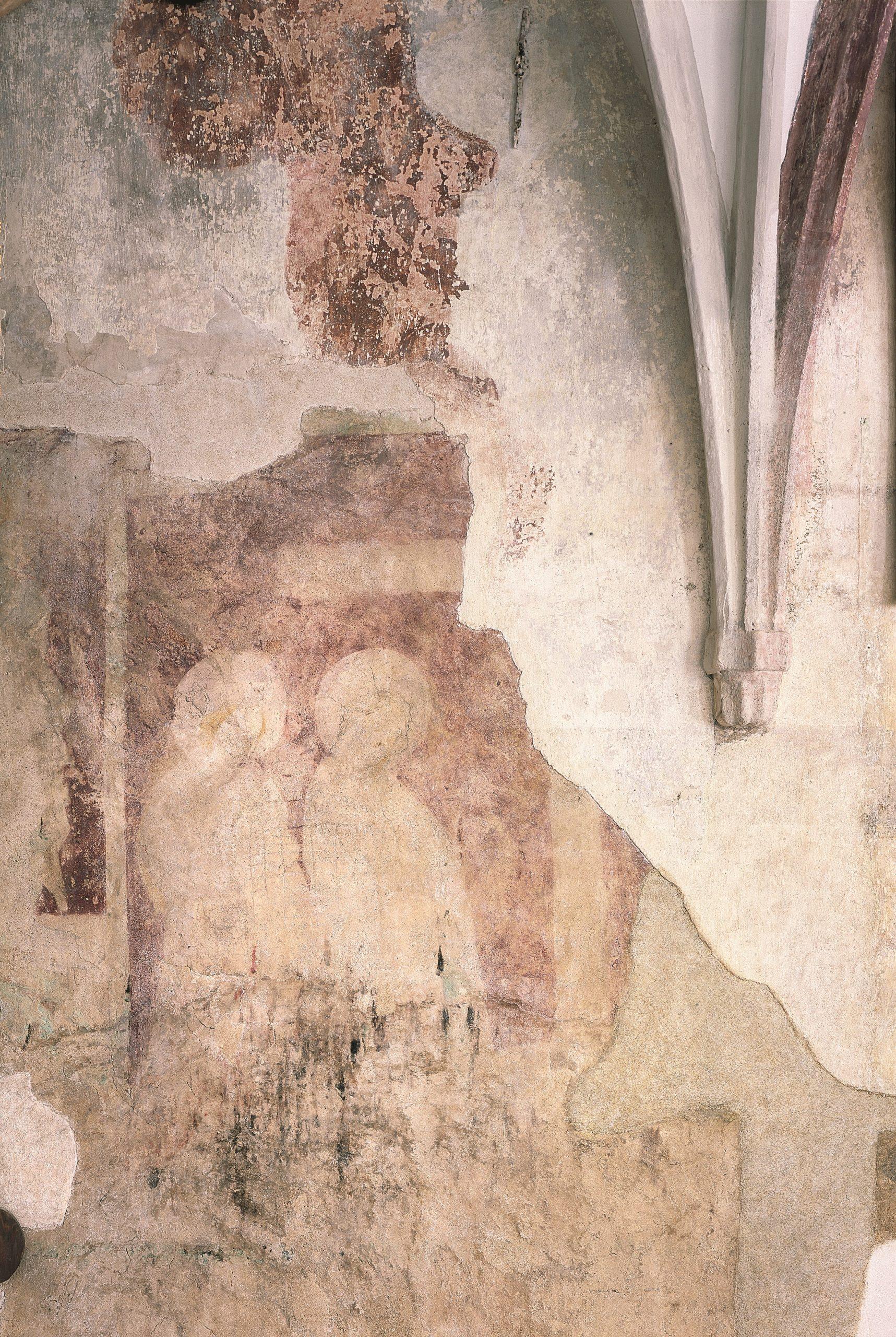 Ambit kláštera minoritů, nástěnné malby vkřížové chodbě, Český Krumlov